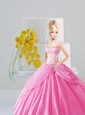 Appiques And Pick-ups Quinceanera Dress For Quinceanera Doll In Rose Pink