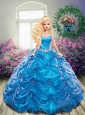 Beading And Pick-ups Quinceanera Dress For Quinceanera Doll In Blue