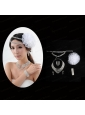 Glamourious Bridal Jewelry Sets with Necklace Earings and Bracelet