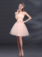 Elegant Bowknot A Line Strapless Prom Dress with Lace Up