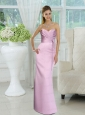 Elegant Ruched Sweetheart Long Prom Dress with Sash