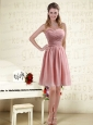 Fitted Sweetheart Empire Chiffon Prom Dresses with Ruching