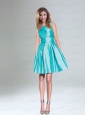 Popular Turquoise A Line Short Prom Dresses for Girls