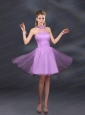 Beautiful Lilac A Line Appliques Prom Dresses with Halter