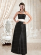 Empire Sweetheart Ruching Belt 2015 Prom Dress in White and Black