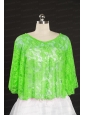 Green Beading Lace Hot Sale Wraps for 2014