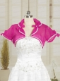 Hot Pink Wedding Party Organza Shawls with Beading