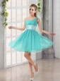 Natural One Shoulder A Line Ruching Lace Up Prom Dress