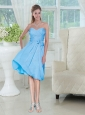 Sweetheart Ruched Chiffon Prom Dress with Bowknot
