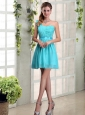 A Line One Shoulder Ruching Prom Dress  with Belt