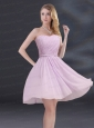 A Line Sweetheart Prom Dress with Ruhing and Belt