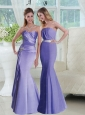 Classical Lavender Trumpet Prom Dresses for 2015