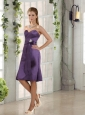 Sweetheart Belt Column Prom Dresses in Eggplant Purple