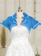 Beautiful Organza Beading Wedding Party Shawls in Blue