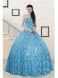 2015 Beautiful Sweetheart Ball Gown Quinceanera Dress in Baby Blue