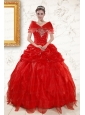 Most Popular Sweetheart Beading Quinceanera Dresses in Red