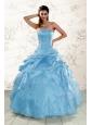 2015 Brand New Aqua Blue Quinceanera Dresses with Appliques