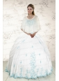 Wonderful Strapless Appliques 2015 Quinceanera Dresses in White