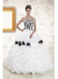 Hot White Sweet 15 Dresses with Pick Ups and Hand Made Flowers