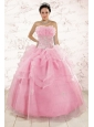 The Most Popular Appliques Baby Pink Dresses for Quinceanera