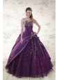 2015 Modern Purple Sweetheart Appliques Quinceanera Dresses