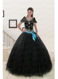Most Popular Appliques and Beading Quinceanera Dresses in Black