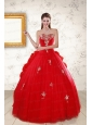 2015 Unique Sweetheart Quinceanera Dresses with Appliques