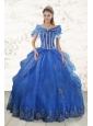 2015 Cheap Appliques Quinceanera Dresses in Royal Blue
