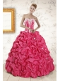 2015 Cheap Ball Gown Sweetheart Quinceanera Dresses with Appliques