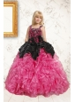 Exclusive Pink Flower Girl Dress with Beading and Ruffles