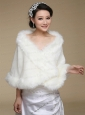 2015 High Quality Front Closure Shawl in White