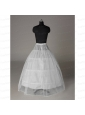 Modest Organza Ball Gown Floor-length White Petticoat