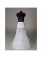 Trendy Organza Mermaid Floor-length White Petticoat