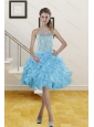 2014 Beautiful Sweetheart Knee Length Prom Gowns with Beading