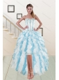 2015 Most Popular Sweetheart Prom Gown with Appliques and Ruffles