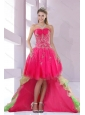 New Custom Made Sweetheart High Low Prom Dress for 2015