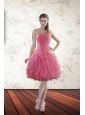 2015 New Style Strapless Prom Dresses with Beading and Ruffles