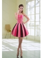 Beautiful Multi Color Beaded Sweetheart Prom Dresses with Ruffles