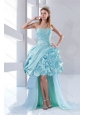 Discount Beaded Sweetheart High Low Ruffled Prom Dresses for 2015
