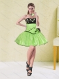 2015 Spring Embroidery and Flowers Sweetheart Prom Dress in Spring Green