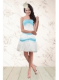 Sexy White and Baby Blue Strapless Prom Dresses for 2015
