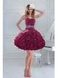 Fashionable Beaded Strapless Ruffled Prom Dresses for 2015