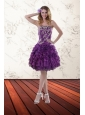 Elegant Strapless 2015 Prom Dresses with Appliques and Ruffles