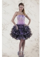 New Strapless Multi Color Prom Dresses with Ruffles and Appliqeues