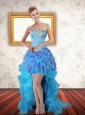 Beautiful Sweetheart High Low Ruffles Prom Dresses in Multi Color