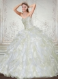 Brand New Sweetheart 2015 Quinceanera Dress in White with Beading and Ruffles