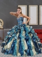 Fashionable 2015 Multi Color Quinceanera Dresses with Appliques and Ruffles