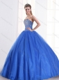 Sequined Royal Blue 2015 Quinceanera Dress with Sweetheart