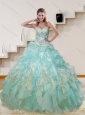 The Super Hot 2015 Multi Color Quinceanera Dresses with Appliques and Ruffles