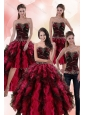 Wonderful Multi Color Dresses for Quince with Ruffles and Beading